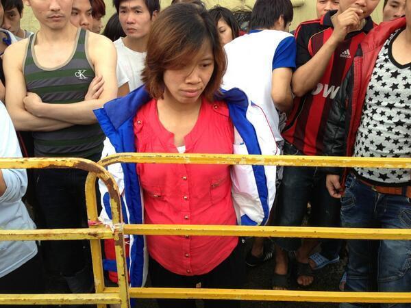 Одна из беременных вьетнамок в лагере в Гальяново