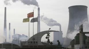 Zona industrial de Shizuishan, China.