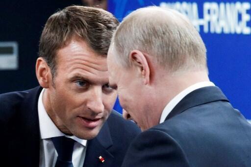 Russian President Vladimir Putin and French President Emmanuel Macron last met in Saint Petersburg in May 2018.