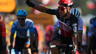 Caleb Ewan claimed the 11th stage of the 2020 Tour de France in Poitiers.