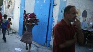 Escola administrada pela ONU no campo de refugiados de Jabaliya foi atingida.