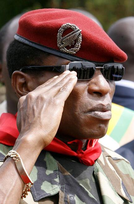 Capitaine Moussa Dadis Camara à Conakry, le 5 octobre 2009.