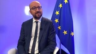 Charles Michel, le Premier ministre belge, invité d'Ici l'Europe, le 4 mai 2018.