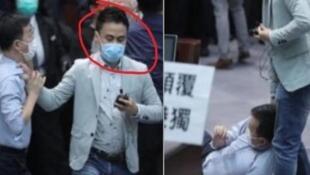 新闻片段截图可见,郭伟强(红圈者)拉跌陈志全,但获律政司介入而撤控。