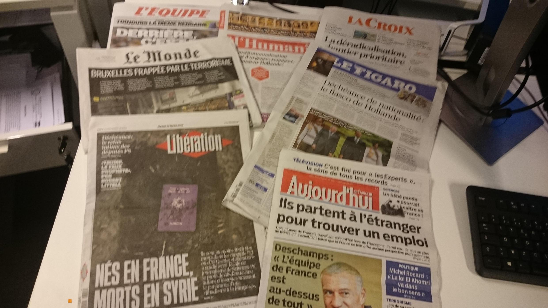 Diários franceses 22.03.2016