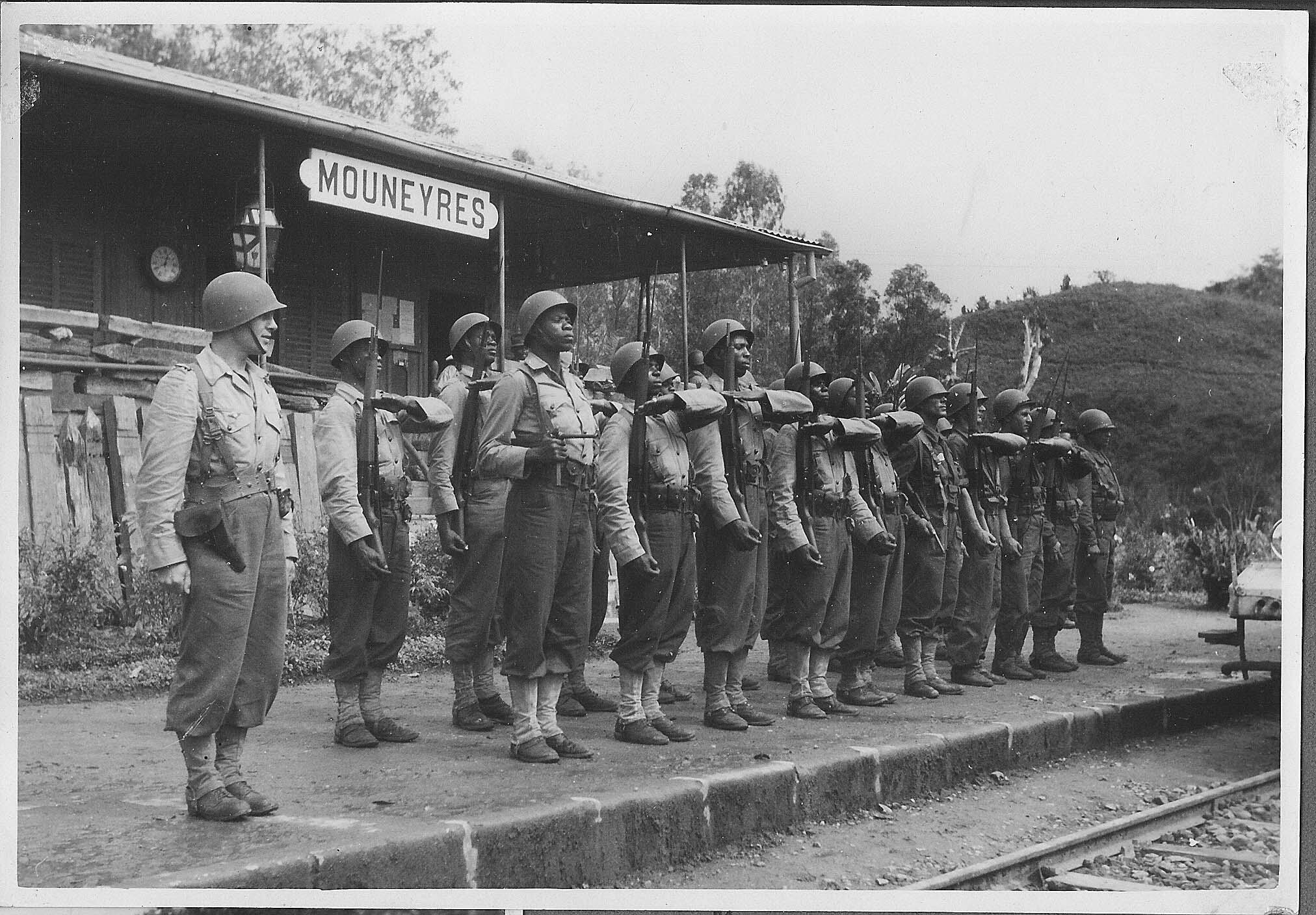 An infantry battalion in Madagascar during WWII.