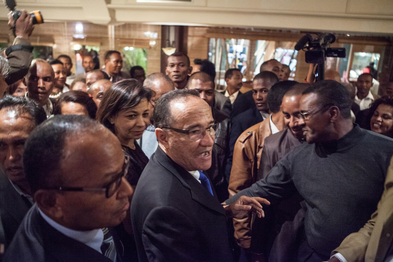 Le Premier ministre malgache, Kolo Roger, à Antananarivo, après sa nomination ce vendredi 11 avril 2014 après deux mois de tractations entre les partis politiques.