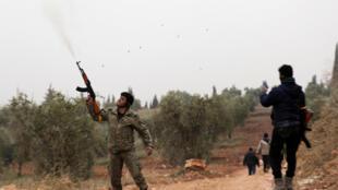 Chiến sự trong vùng Afrin, Syria. Ảnh ngày 22/01/2018.