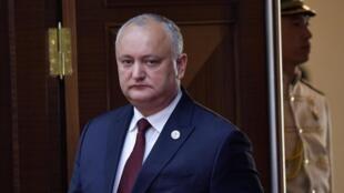 Moldova's suspended President Igor Dodon.