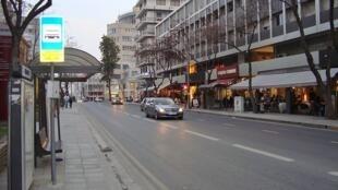 Une rue de Nicosie à Chypre.