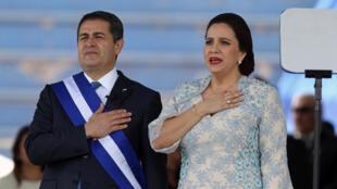 Le président hondurien Juan Hernandez a été investi pour un second mandat ce 27 janvier après une réélection contestée.