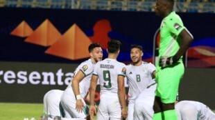 Les Algériens lors de la CAN 2019.