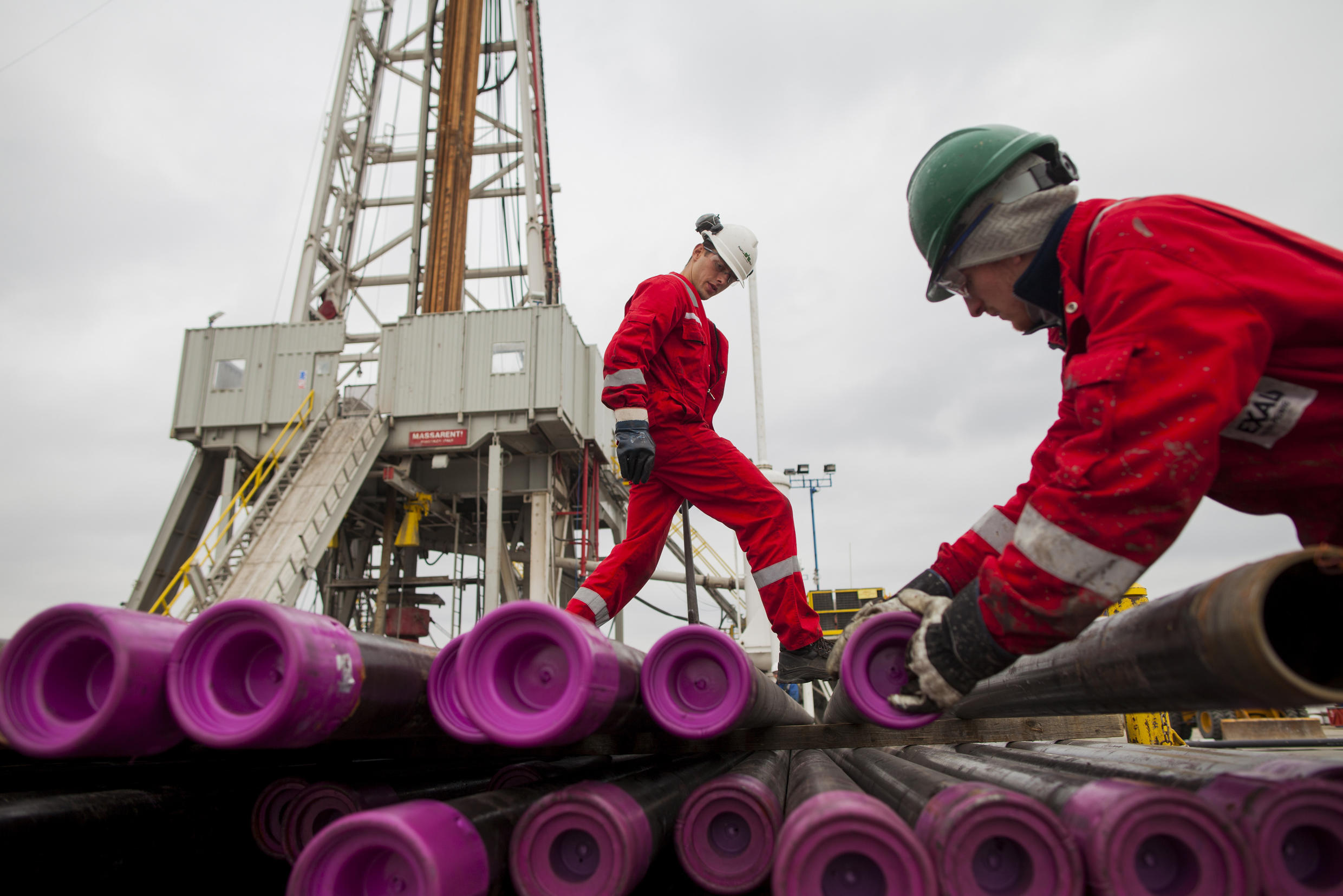 A hydraulic fracturing operation in Poland