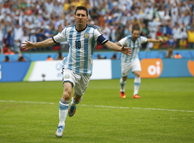 Danh thủ Lionel Messi trong trận Achentina - Nigéria ngày 25/06/2014