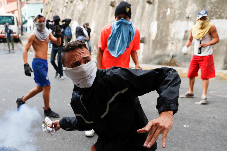 Biểu tình chống chính phủ ở Caracas, Venezuela, ngày 21/01/2019