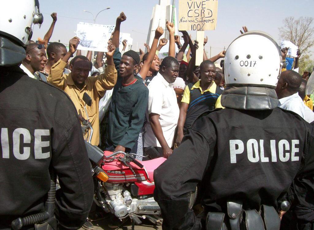 Une manifestation à Niamey, la capitale nigérienne, en 2010.