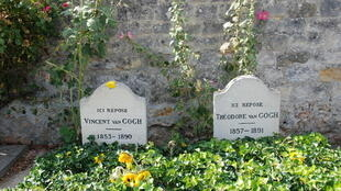 Vincent Van Gogh's gravesite in Auvers-sur-Oise, France