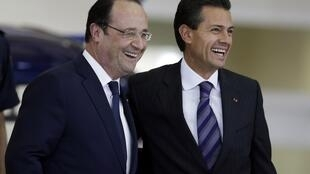 François Hollande y Enrique Peña Nieto, en Querétaro, México, el pasado 11 de abril.