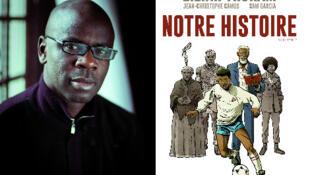 Lilian Thuram et Jean-Christophe Camus présentent leur bande dessinée «Notre histoire».