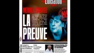 Capa do jornal francês Libération desta quinta-feira, 2 de julho de 2015.