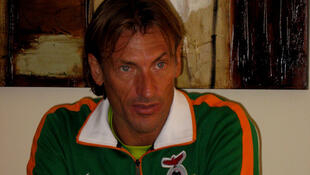 Hervé Renard entraîneur de la Zambie qualifiée pour les demi-finales de la can 2012.