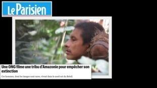 ONG filma tribo amazônica para evitar sua extinção
