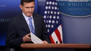 Le général Flynn, le 1er février 2017 à la Maison Blanche de Washington.