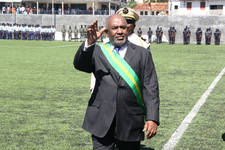 Le président des Comores Azali Assoumani, lors de sa cérémonie d'investiture, le 26 mai 2016.