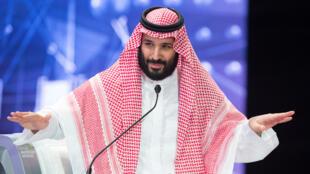 Hoàng thái tử ben Salman phát biểu tại Diễn đàn đầu tư ở Ryad ngày 24/102018.