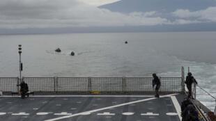 Des forces militaires américaines, africaines et européennes lors d'un exercice multinational destiné à accroître la sécurité maritime dans le golfe de Guinée en 2014 (image d'illustration).