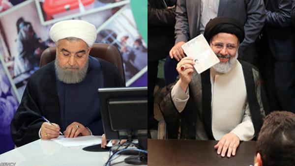 حسن روحانی و ابراهیم رییسی دو نامزد انتخابات ریاست جمهوری