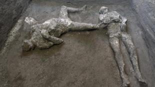 Decouverte homme et esclave Pompeii