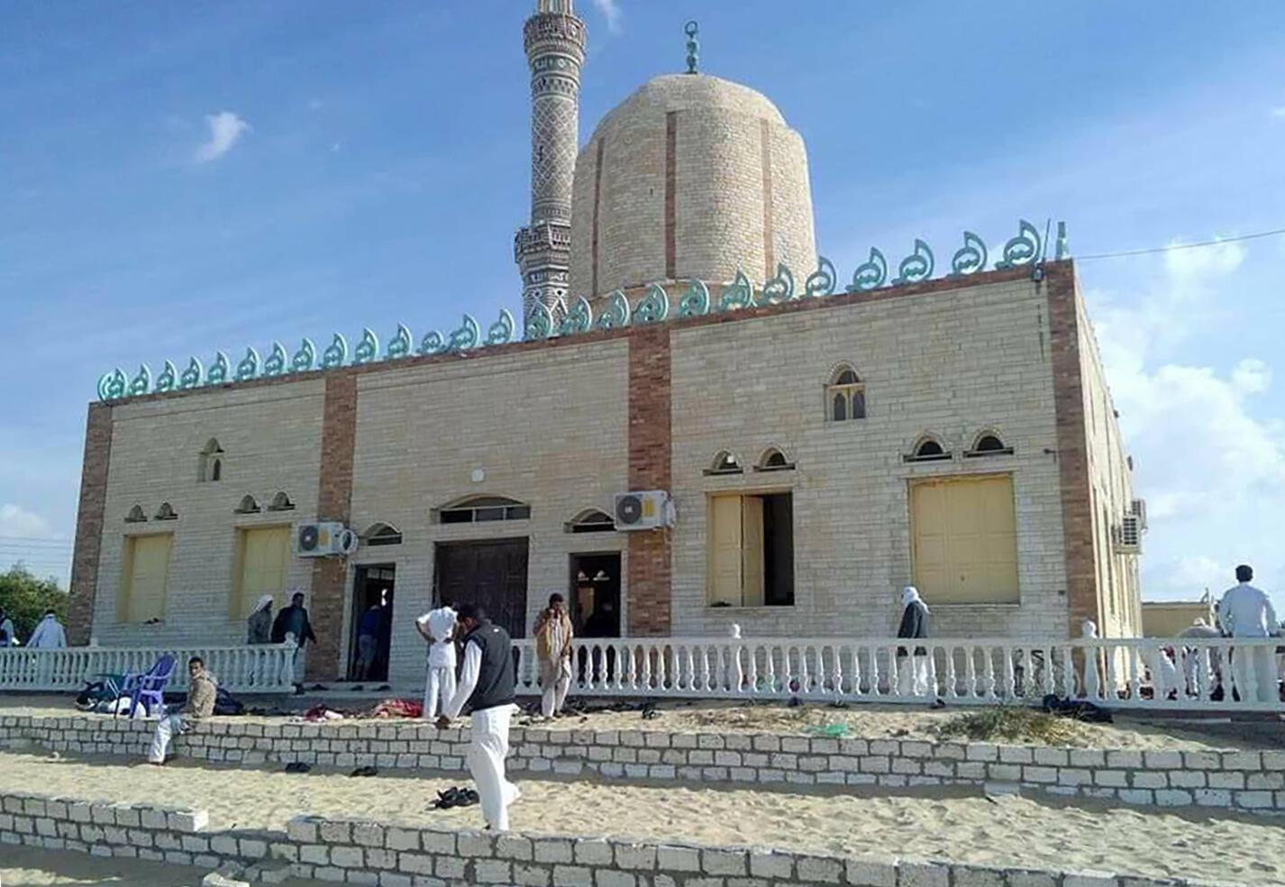 مسجد روضه که روز جمعه هدف یک حمله ترویستی خونبار قرار گرفت..