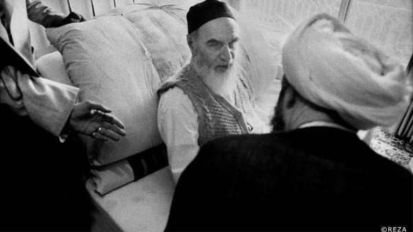 Téhéran, maison de Khomeyni, 1980.