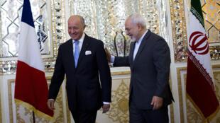 Laurent Fabius, en visite à Téhéran mercredi 29 juillet, avait d'abord rendez-vous avec son homologue iranien Mohammad Javad Zarif.