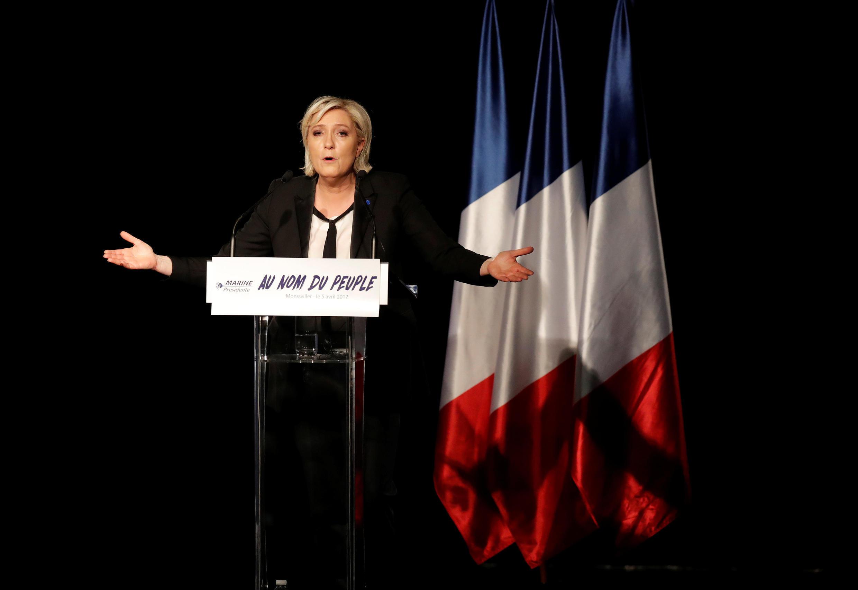 Marine Le Pen, candidata às Eleições Presidenciais francesas.