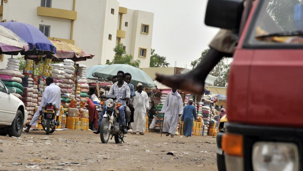 Photo d'un marché dans la capitale tchadienne, Ndjamena
