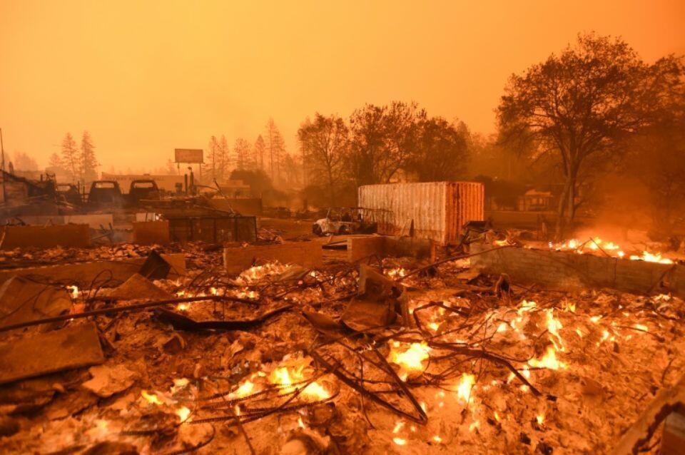 Un barrio destruido por las llamas en Paradise, California (EE.UU.), el pasado 10 de noviembre de 2018.