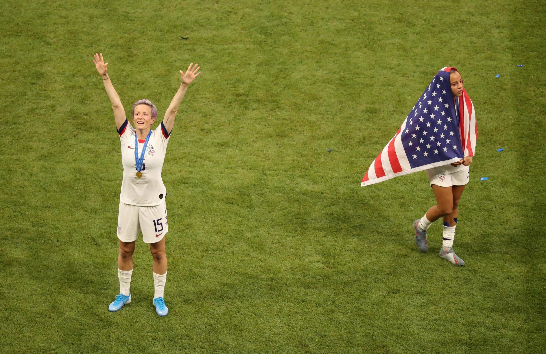 Megan Rapinoe, capitaine de l'équipe américaine, championne du monde 2019 de football.