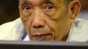 Kaing Guek Eav, alias Douch,en el tribunal especial para Camboya en 2012