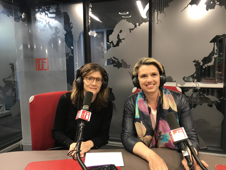 Дина Недолужко в студии RFI