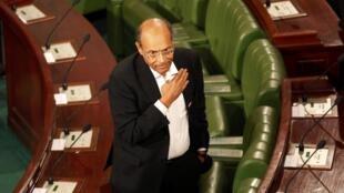 Le nouveau président tunisien Moncef Marzouki lors de sa prestation de serment le 13 décembre 2011.