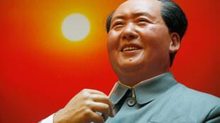 Buste en cire de Mao Zedong fabriqué pour le 60ème anniversaire de la proclamation de la République populaire de Chine.