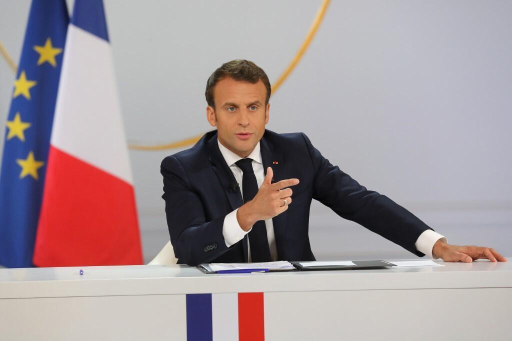 Emmanuel Macron during his press conference on April 25, 2019