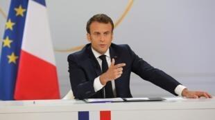 Emmanuel Macron à l'Élysée, le 25 avril 2019.