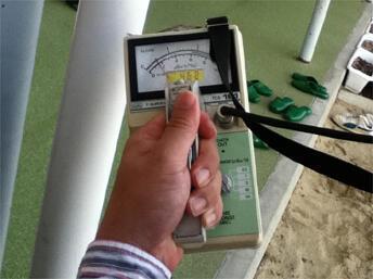 Аппарат для измерения радиационного фона. Япония, 18 октября 2011.