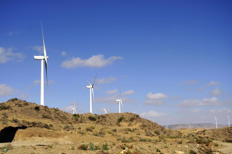 Le parc éolien d'Ashegoda, en Ethiopie.
