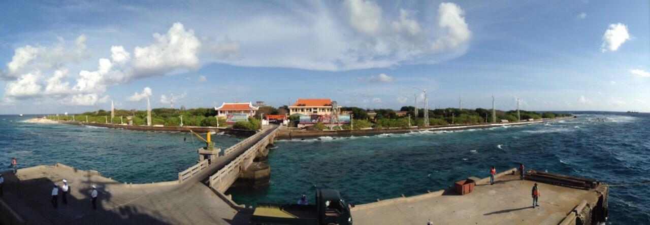 Đảo Trường Sa nhìn từ cầu Tàu