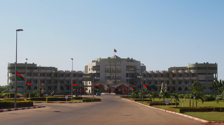 Le Palais Kosyam, palais présidentielle du Burkina Faso, situé à Ouagadougou.