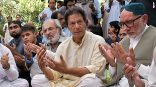 Imran Khan, le 15 juillet 2018 à Quetta, dans le cadre de la campagne des législatives pakistanaises.